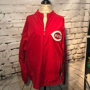 Men's Large Majestic Cincinnati Reds Windbreaker
